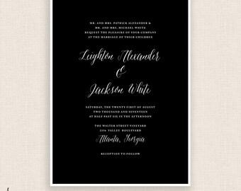 CLASSIC & CURSIVE - DIY Printable Wedding - Invitation