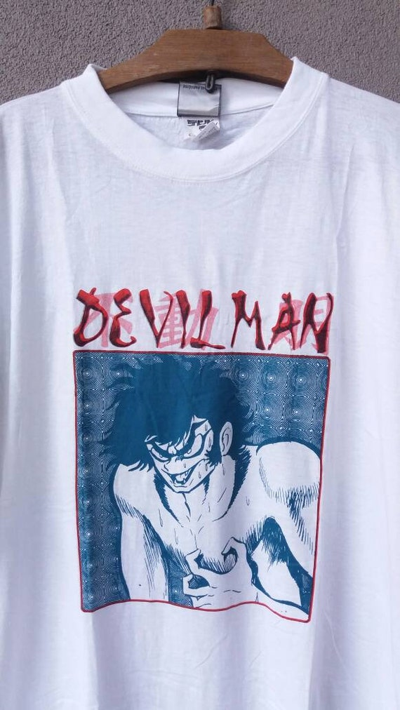 Comic Large Series Rare Soft Potrait Thin Tv Akira Devilman 90s White Promo Vintage Anime Tshirt 4w6qWcXr86