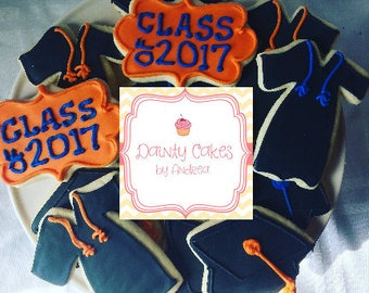 1 dozen custom graduation cookies!