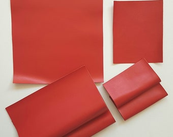 Italian leather pieces to buy individually, shiny goat in 2 sizes, 4,72 x 5,91 inches and 8,66 x 10,63 inches D04  La Garzarara