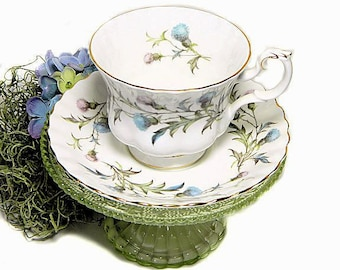 Royal Albert Bone China Brigadoon Teacup and Saucer Thistles