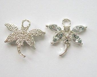 Clear Rhinestone Dragonfly Pendant Dragonfly Charm Dragonfly Jewelry  Rhinestone Dragonfly Necklace Dragonfly Charm for Bracelet