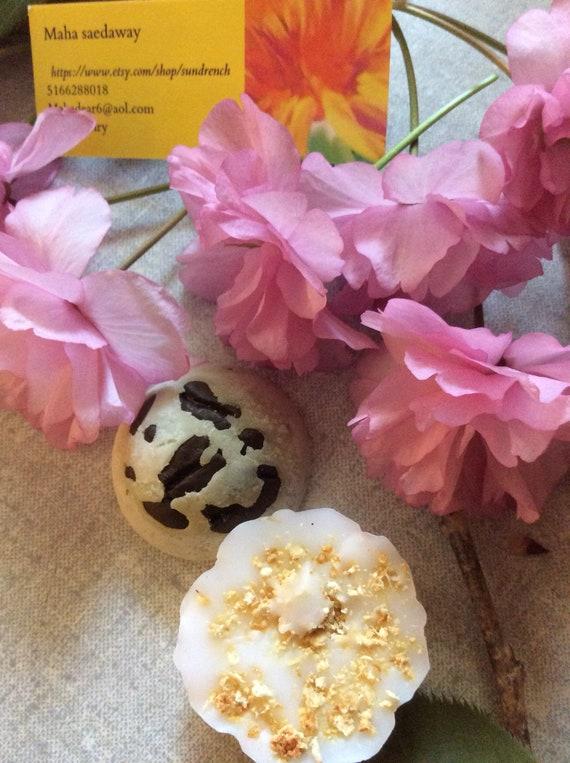 Organic ,100%natural handmade  mini  spa set  of choice of  2 items  for  women