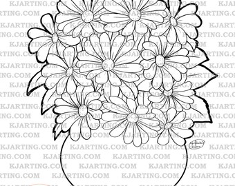 Bouquet (Line_Art Printable_00243 KJArting)