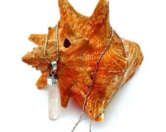 Crystal Dagger Pendant Necklace