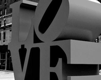 Love New York City Photography Valentine Modern Home NYC Wall Decor Black and White Wedding Anniversary Pop Art Photo Print Gray NYC Art