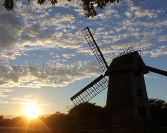 Nantucket Art - Windmill Wall Art / Windmill Wall Decor - Nantucket Photography - Large Wall Art Nantucket