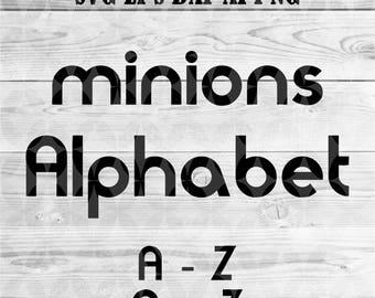 Minions alphabet etsy minions alphabet svgsvg alphabetcricut font svgdigital fontbirthday stopboris Gallery