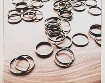12mm brass links hoops connectors 12mm  - 50 pieces - destash