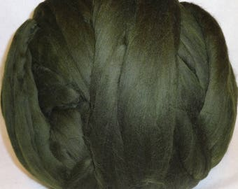 Merino Wool Roving, Merino Roving, Wool Roving, Spinning Wool, Felting Wool - Forest 8 oz