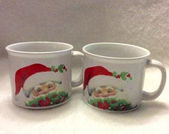 Roth Morehead vintage Christmas coffee mugs. Free ship to US.