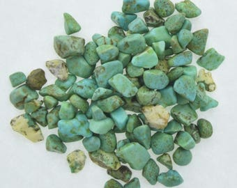Green Turquoise Chips  half oz of assorted sized chips,  09190/CT