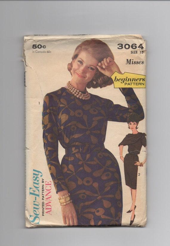 Sewing Pattern by Advance 3064 size 18