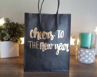 Cheers to the new year - New Years Party Favors - New Years Wedding Gift Bag- Custom Gift Bag - Gift Bags - Custom Gift Bags