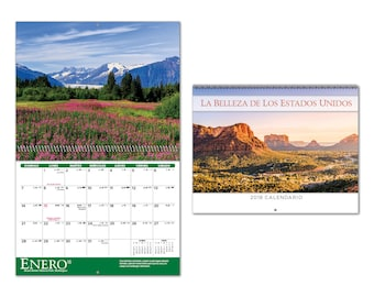 2018 Scenic Spiral Wall Calendars in Spanish