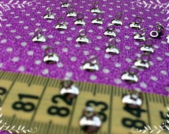 Caps for beads, DIY, Silver caps, Handmade caps, Small caps, Crocheted caps, DIY pendant, DIY Jewelry, Caps for jewelry, Jewelry making