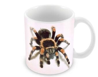 Red Knee Tarantula Ceramic Coffee Mug    Free Personalisation