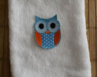 Blue OWL organic flax seed heating pad
