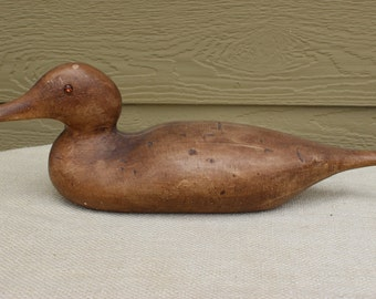 Ceramic Duck Decoy, Decorative Wood-Like  Duck, Sportsman Decor, CabinDecor