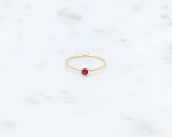 Gorgeous Ruby 14K Gold Filled Ring-stacking ring