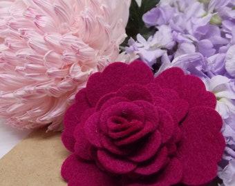 Fuschia Flower Power Brooch
