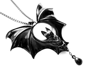 NEW! Noctem   Pendant in Black - Vampire Bat Pendant by Trickery