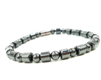 Bracelet/Anklet || Basic Black Design || Pain Relief || Super Power Magnetic Hematite || Rare Earth Magnetic Clasp || Lightweight || Unisex