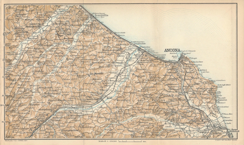 Ancona Italy Antique Map - Map of ancona italy