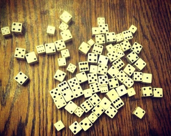 Collection of Vintage White Dice
