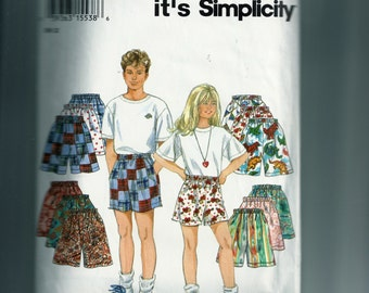 Simplicity Children's Shorts Pattern 9052
