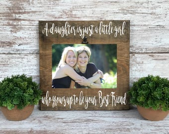 Mom Best Friend Gift, Mother's Day Gift, Picture Frame for Mom, Mom Birthday Gift, Christmas Gift for Mom