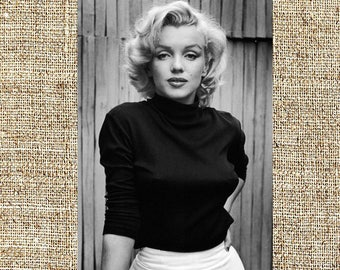 Marilyn Monroe photograph, vintage photo print, classic Hollywood photograph, black and white print, retro wall decor, anniversary gifts