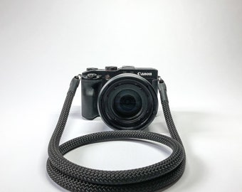 Camera Strap for DSLR black-Camerastrap-rope-camera Band-10 mm-Universal shoulder strap-carrying strap-Sony Olympus-Seilstyles