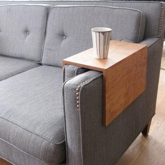 The original couch arm wrap solid wood custom arm rest table watchthetrailerfo