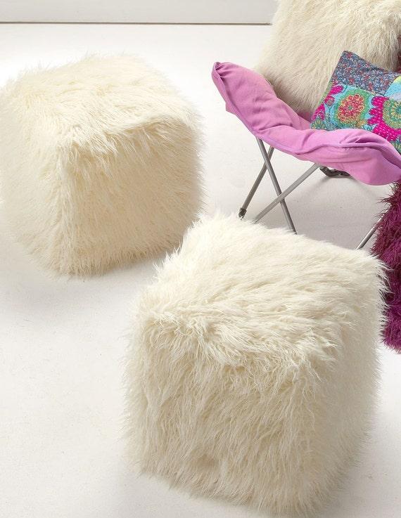 Stuhl Fell schaffell puff puff weißen fell stuhl sehr bequem puff januar