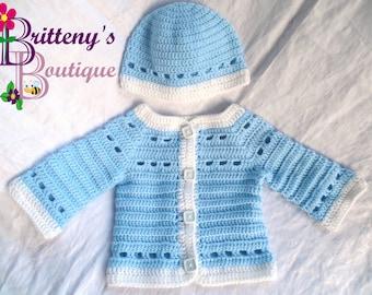 Baby Boy Blue Sweater  Baby Boy Blue Prince Charming Sweater  Prince Charming Sweater  Baby Boy Blue Layette Set  1218 Mo  Shower Gift