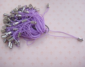 Set of 35 attached phone strap color purple