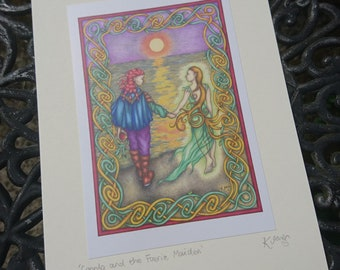 Celtic Fairy Tale Card - celtic knotwork, knot, romantic, wedding, engagement, anniversary, blank, Irish story, Ireland, magical, folklore