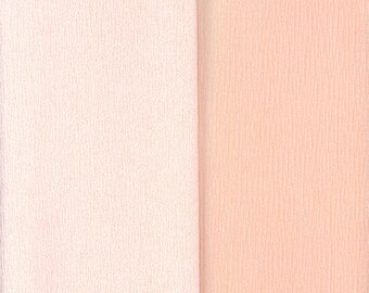 Gloria Doublette Double Sided Crepe Paper For Flower Making Made In Germany Apricot And Lt Apricot  #3402