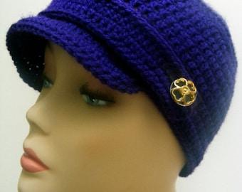 Newsboy Hat Crochet Pattern, Crochet Hat Pattern, Easy Crochet Pattern, Womens Hats, Gift For Her, Brimmed Hat, Newsboy Cap, pdf Pattern