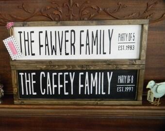 Family name established sign