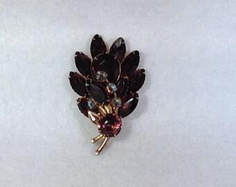 Vintage Purple Brooch