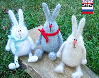 Crochet Easter bunny pattern Amigurumi Crochet toy pattern Decor for Easter Crochet  pattern animal  crochet Rabbit  Phil the Cheerful Bunny