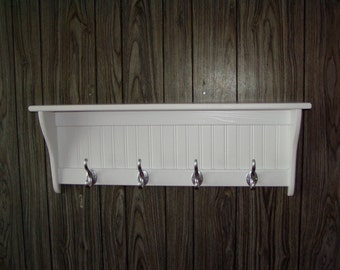 Wood Country Coat Rack Wall Shelf Country Display Rack