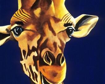 Zoo Animal Nursery Print, Giraffe Wall Art, Giraffe Print, Baby Animal Print, Safari Nursery Art Print, Baby Boys Nursery Prints, Animal Art