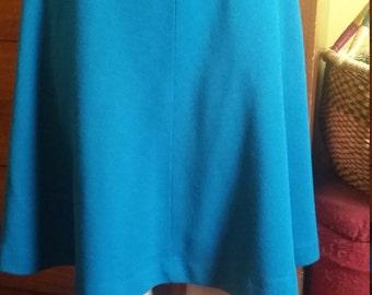 Vintage Teal, A-line Skirt