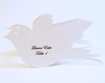 Love Bird Wedding Place Cards, Wine Glass Topper, Love Bird Bridal Shower, Bird Place Cards, Eco-Friendly Place Cards, Wedding Escort Cards