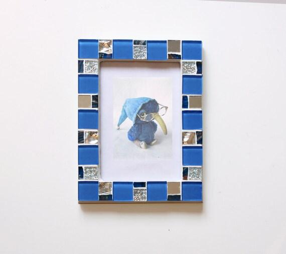 4 x 6 marco foto mosaico marco azul foto 4 x 6 cuadro