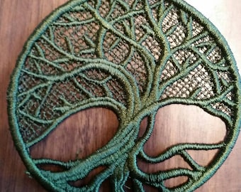 Tree of life,embroidered lace,ornament,patch