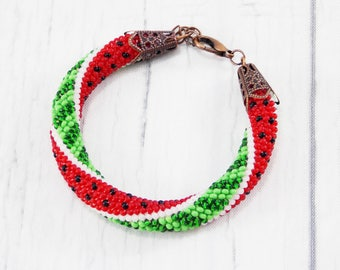 Vegan gift for vegan watermelon jewelry juicy jewelry fruit jewelry fake food jewelry berry bracelet vegan jewelry novelty jewelry for women